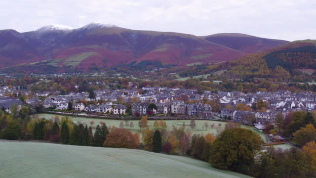 united kingdom, england, cumbria, lake district national park, keswick and skiddaw beyond - english lake district stock videos and b-roll footage