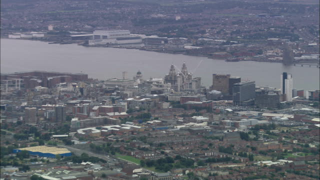 united kingdom - everton fc  - aerial view - liverpool england stock videos & royalty-free footage