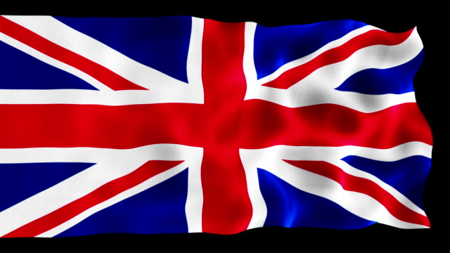 united kingdom flag animation - bandiera del regno unito video stock e b–roll