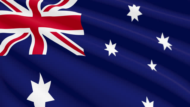 united kingdom flag blowing in the wind, 3d animation. seamless loop. - 連続文様点の映像素材/bロール