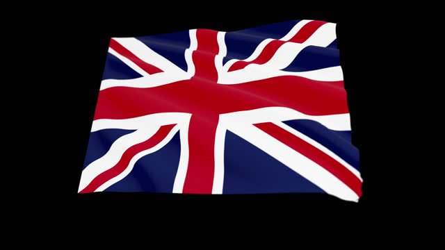 united kingdom flag blowing in the wind, 3d animation. seamless loop. - uk politics stock videos & royalty-free footage