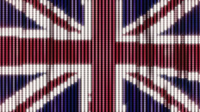 United Kingdom Flag Halftone