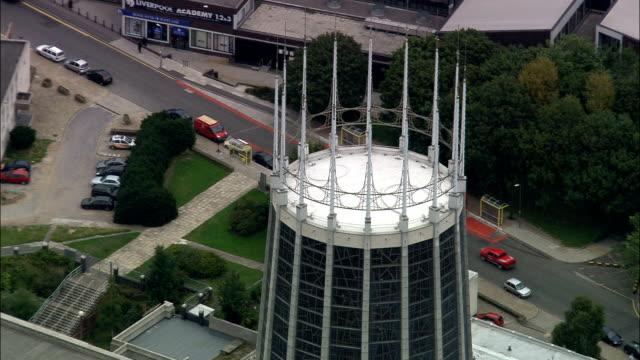United Kingdom - Liverpool Metropolitan Cathedral - aerial view