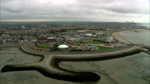 united kingdom - morecambe  - aerial view - lancashire stock videos & royalty-free footage
