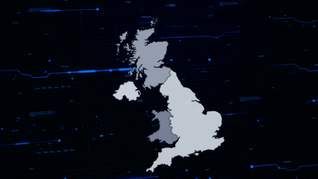 United Kingdom network map