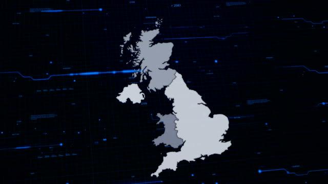 Großbritannien Netzwerk-Karte