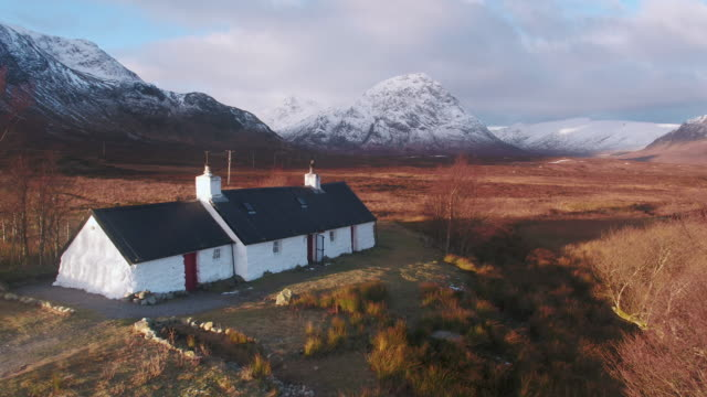 United Kingdom, Scotland, Highlands Region, Western Highlands, Glencoe (Glen Coe), Rannoch Moor, Blackrock Cottage