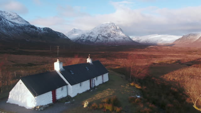 united kingdom, scotland, highlands region, western highlands, glencoe (glen coe), rannoch moor, blackrock cottage - remote location stock videos and b-roll footage