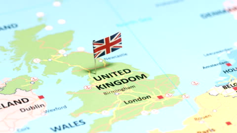 united kingdom with national flag - national flag stock videos & royalty-free footage