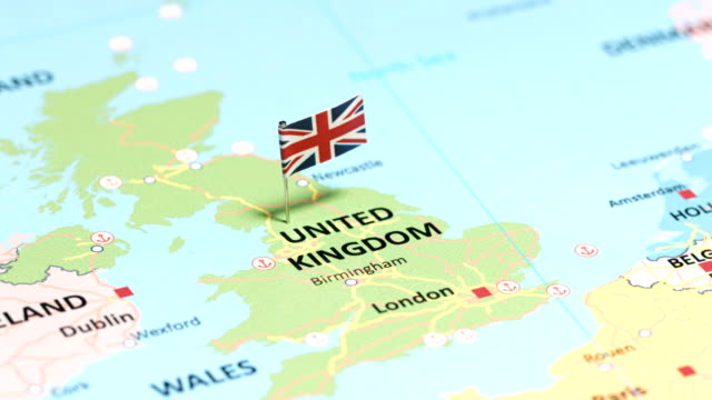 united kingdom with national flag - uk stock videos & royalty-free footage