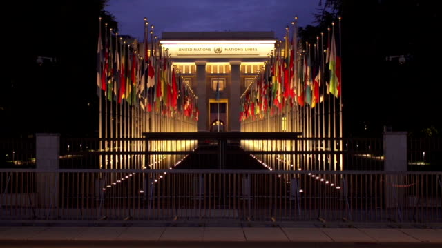 united nation in europe - united nations building stock videos and b-roll footage