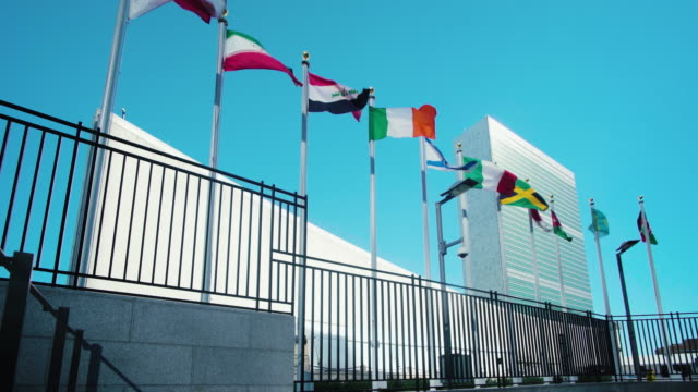 united nations building, new york, usa - united nations building stock videos and b-roll footage