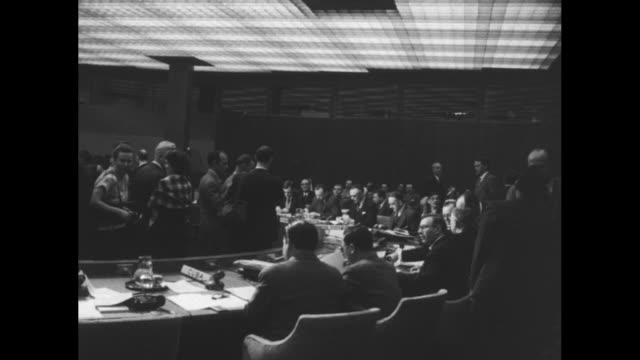 cu united nations delegates / interior un security council meeting - 1948 stock videos & royalty-free footage