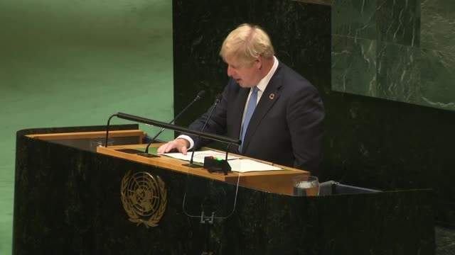 boris johnson speech to the un cutaways usa new york new york city united nations int cutaway of boris johnson mp speech sot / cutaways of delegates... - united nations stock videos & royalty-free footage