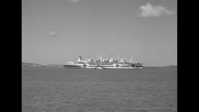 united nations hospital ship anchored off coast - anchored stock videos & royalty-free footage