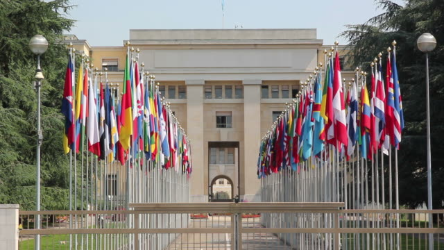 United nations in Geneva, Flags - HD & PAL