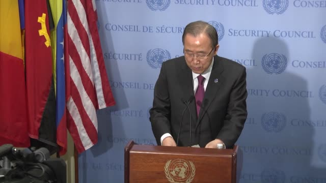 United Nations SecretaryGeneral Ban Kimoon answers the media questions during a news conference in New York United States on December 3 2015