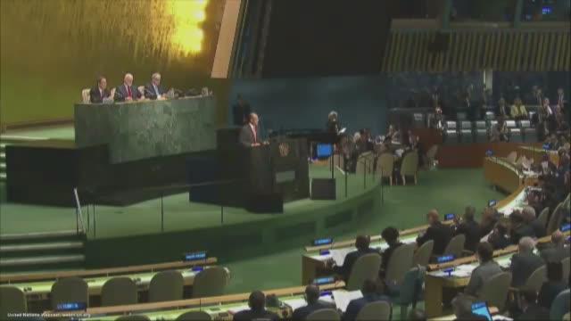 vídeos y material grabado en eventos de stock de united nations secretarygeneral ban kimoon president of the 71st session of the general assembly peter thomson president of the 70th session of the... - united nations