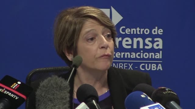 united nations special rapporteur on trafficking in persons maria grazia giammarinaro says friday at a press conference during a visit to havana that... - vulnerability stock videos and b-roll footage