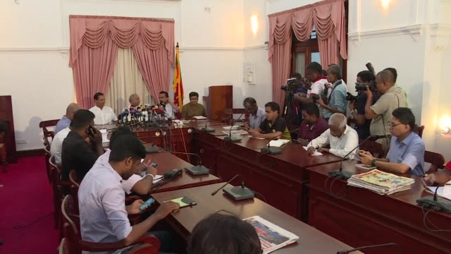United People's Freedom Alliance party members defend the Sri Lankan president's decision to dissolve parliament