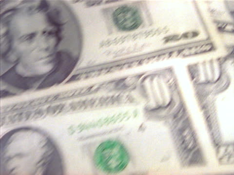 united sates currency - twenty us dollar note stock videos & royalty-free footage