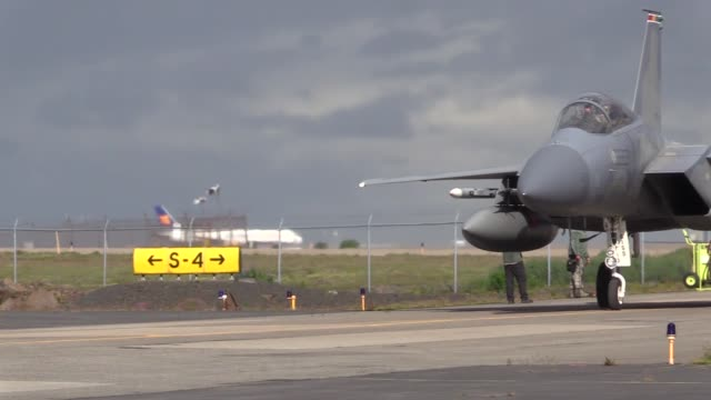 United States Air Force 493rd Expeditionary Fighter Squadron arrive at Keflavik Air Base Iceland