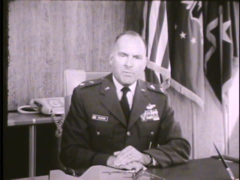 united states air force academy superintendent robert warren sitting in office talking to camera about looking for candidates showing high academic... - good condition stock videos and b-roll footage