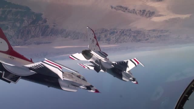 United States Air Force display team Thunderbirds 60 Year Anniversary Tribute