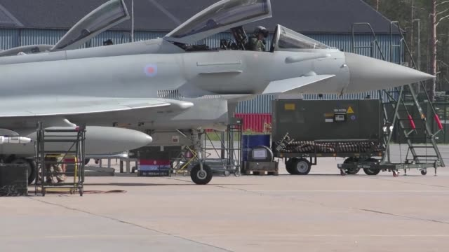 united states and european aircraft conduct flight operations in support of arctic challenge exercise at kallaz air base sweden 30 may 2019 aircraft... - aircraft canopy stock videos & royalty-free footage