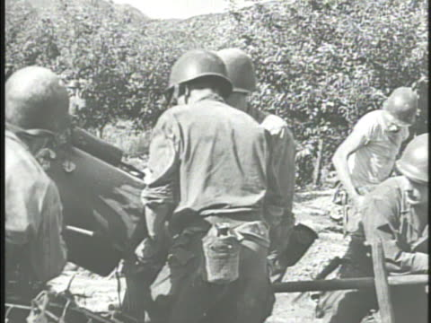 united states army soldiers looking w/ binoculars artillery regiment firing cannons marine handling artillery shells another checking map using... - regiment stock videos and b-roll footage
