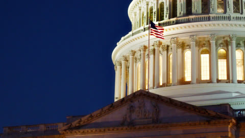 united states capitol and american flag - united states congress stock videos & royalty-free footage