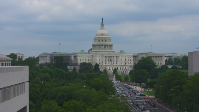 united states capitol and pennsylvania avenue in washington, dc - 4k/uhd - senate stock videos & royalty-free footage