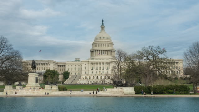 United States Capitol Building and Reflecting Pool in Washington, DC