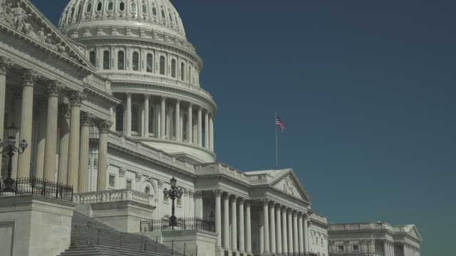 United States Capitol Building East Facade in Washington, DC in 4k/UHD