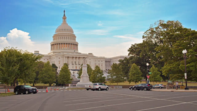 united states capitol. road. park. tree. - united states congress stock videos & royalty-free footage