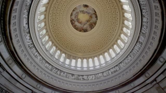 united states capitol rotunda in washington, dc - 4k/uhd - rotunda stock videos & royalty-free footage