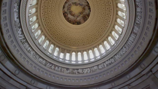united states capitol rotunda in washington, dc - 4k/uhd - senate stock videos and b-roll footage
