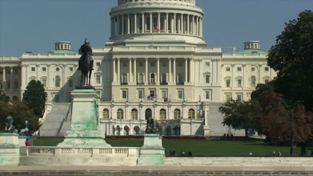 united states capitol - public building stock videos and b-roll footage