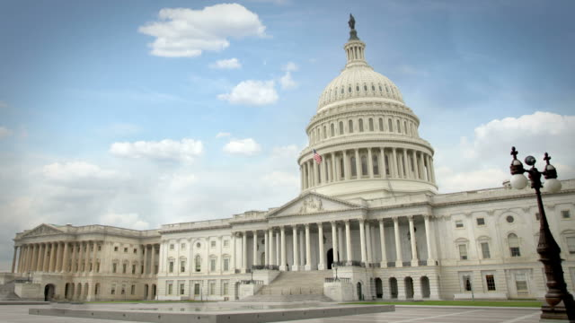 united states capitol - colonna architettonica video stock e b–roll