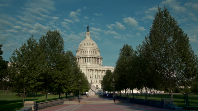 vídeos de stock e filmes b-roll de united states capitol west and walkway in washington, dc - 4k/uhd - washington dc