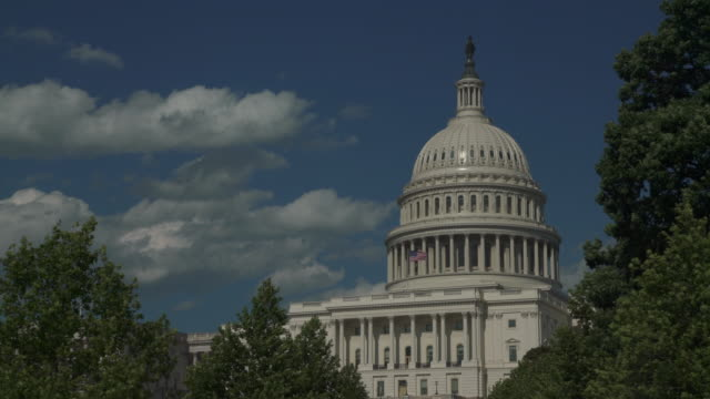 4 k/uhd、ワシントンのアメリカ合衆国議会議事堂西 - 連邦議会議員点の映像素材/bロール