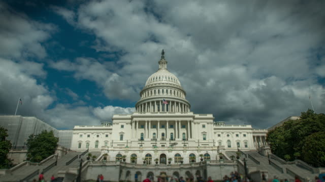 United States Capitol West in Washington, DC - Time Lapse 4k/UHD