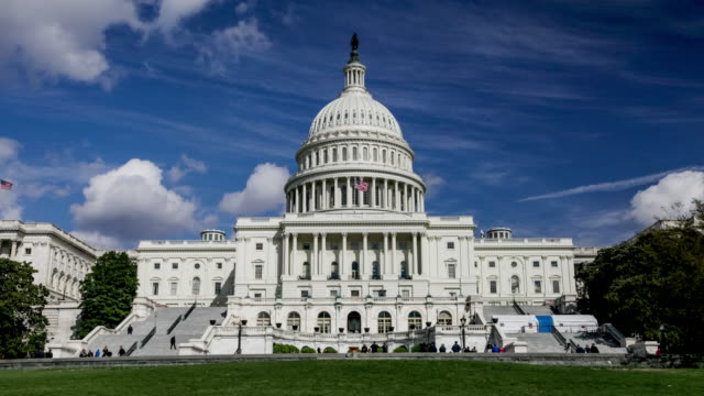 united states capitol west in washington, dc - governo video stock e b–roll