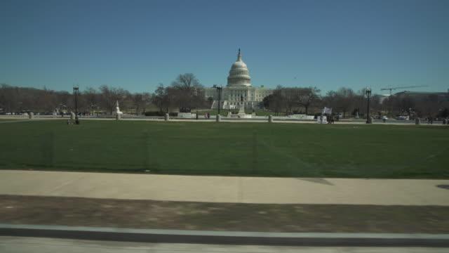 United States Capitol West Rasen und National Mall Drive von Washington, DC - 4k/UHD