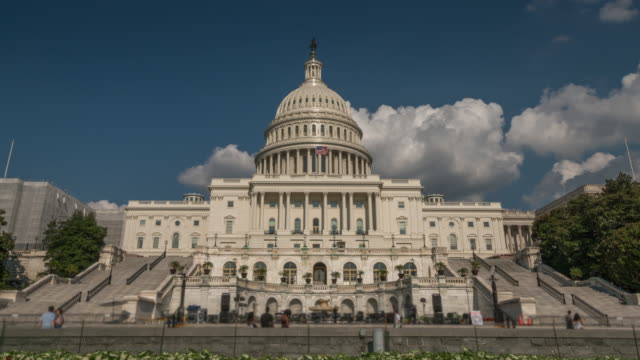 United States Capitol West Plaza in Washington, DC - 4k/UHD
