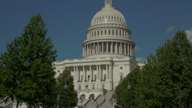 United States Capitol West Gehweg in Washington, DC - Zoom In - 4k/UHD
