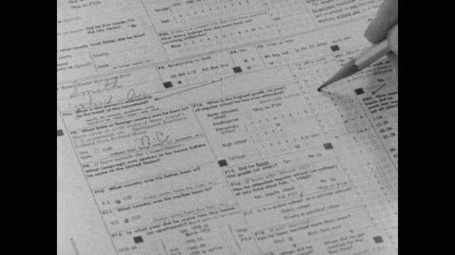 1960 united states census form filled in - census stock videos & royalty-free footage