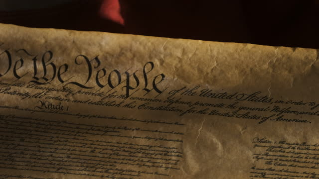 united states constitution on flag - アメリカ憲法点の映像素材/bロール