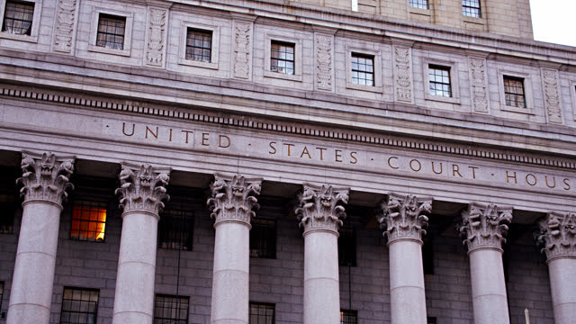 united states court house. new york - courtyard stock videos & royalty-free footage