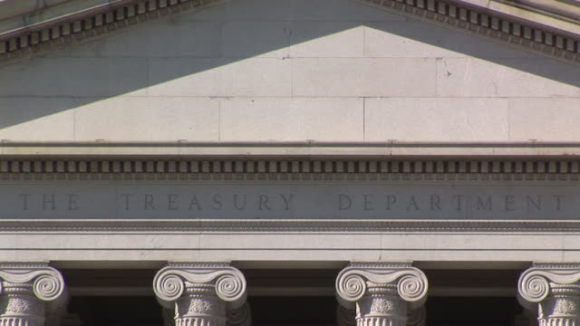 cu, zo, ws, united states department of treasury, washington dc, washington, usa - finanzministerium stock-videos und b-roll-filmmaterial